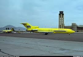 Phoenix Sky Harbor Terminal Map by Republic Airlines Boeing 727 With Original Hughes Air West Paint