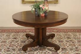 pedestal dining table with leaf sold oak 4 round 1900 antique pedestal dining table 6 leaves