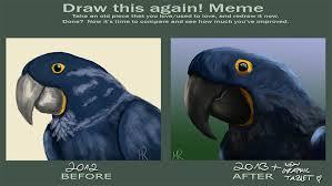 Parrot Meme - draw this poor parrot again meme by mrkleber on deviantart