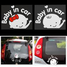 2018 3d cartoon car stickers reflective vinyl styling baby in car