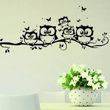 Owl Pictures For Kids Room by Aliexpress Com Buy Animal Cartoon Black Owl Diy Vinyl Wall