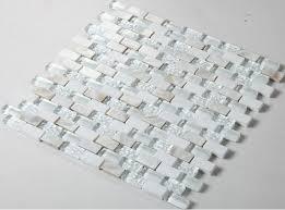 Crystal Super White Glass Mosaic Stone Mosaic Kitchen Backsplash - White glass backsplash tile