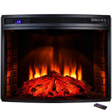 Electric Fireplace Insert Akdy 33 In Freestanding Electric Fireplace Insert Heater In Black
