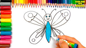 how to draw a butterfly how to draw and paint easy coloring