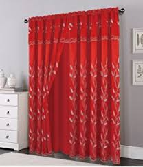 Curtains 46 Inches Long Amazon Com Sheer Curtains Home U0026 Kitchen