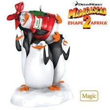 penguins madagascar 2010 hallmark ornament