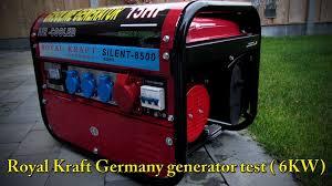 royal kraft germany generator test youtube