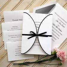 thermography wedding invitations ribbon wedding invitation set raised thermography wedding invite