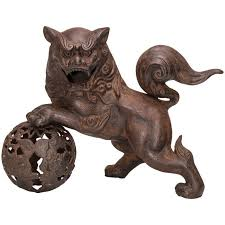 foo lions for sale japanese iron foo dog or lion censer circa 1900 for sale at 1stdibs