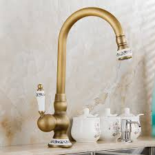 kitchen faucet brass free shipping new style antique brass finish kitchen faucet
