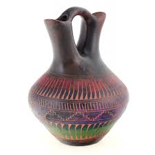 Navajo Wedding Vase Navajo Horsehair Wedding Vase By Michael Charlie Native Art Gallery
