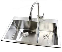 Kitchen Sinks Drop In Double Bowl by 33 Inch Top Mount Drop In Stainless Steel Double Bowl Kitchen Sink