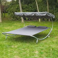 patio sun lounger bed double 2 person standing hammock canopy