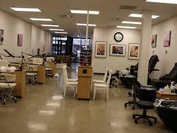 cuisine small salon design beauty salon interior stock photo