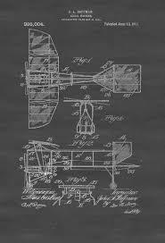 1911 aerial machine patent print vintage aviation art airplane