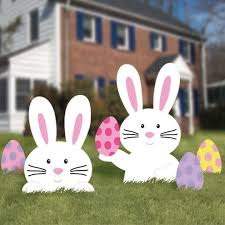 easter rabbits decorations b out of stock b easter bunny lawn decorations from american