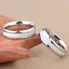 thin line wedding ring ems thin white line inspired ring ems ring