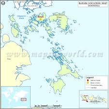 map batam where is batam location of batam in indonesia map