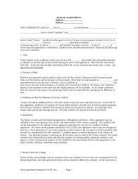 Rent Per Month by Rental Agreement Free Rental Lease Agreement Form