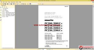 shop manual komatsu pc200 6 pc210 6 pc220 6 pc230 6 auto repair