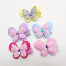 butterfly hair clip 2018 mini glitter butterfly hair clip rhinestone flying