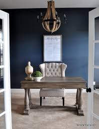 navy blue office walls office pinterest