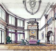 luxury house interiors in european and traditional mansion and