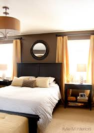 master bedroom painted a dark paint colour benjamin moore brown