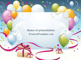 birthday card powerpoint template printable childrens birthday