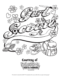 daisy scouts coloring pages free kids coloring