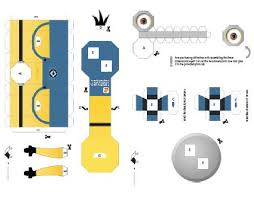 despicable me 2 minions paper craft template download web cool