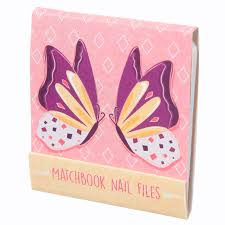 nail file matchbook butterfly designs 14669 puckator
