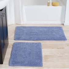 bathroom bursting flower design bathroom rug sets in pretty blue