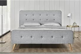 Grey Wood Bedroom Furniture Bed Frames Gray Platform Bed Grey Tufted Bed King Grey Platform