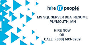 Sample Sql Dba Resume by Ms Sql Server Dba Resume Plymouth Mn Hire It People We Get It