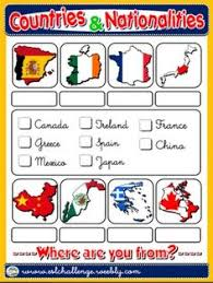 countries and nationalities worksheet 1 a teaching english