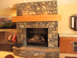 interior lovely stoned firebox with ventless gas fireplace for