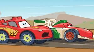 cartoon race car lightning mcqueen vs francesco bernoulli final race cartoon