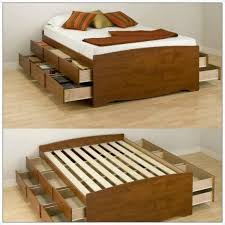 Build Bed Frame With Storage Diy Bed Frame With Storage Bed Storage Stuff To Make