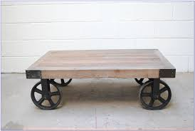 Rustic Coffee Table On Wheels Coffee Table Impressive On Coffee Table Wheels With Rustic Casters