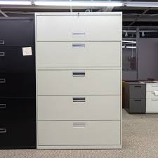 Used 5 Drawer Lateral File Cabinet Used Hon 5 Drawer 42 Lateral File Cabinet Putty Fil1541 003