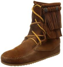 minnetonka womens boots size 11 minnetonka fringe front lace boot s shoes boots