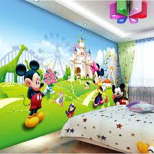 Lovely Mickey  Minnie Photo Wallpaper D Wall Mural Cartoon - Kids room wallpaper murals