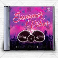 summer vibes u2013 free mixtape album cd cover template