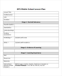 middle lesson plan templates gora stepupheight co