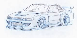 nissan silvia drawing imsilvia 180sx by tincap on deviantart