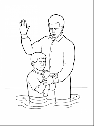 lds baptism coloring page jesus pages sunday for