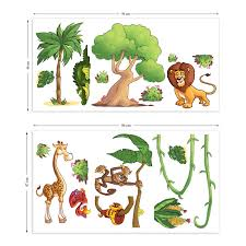 childrens jungle animals wall stickers small pack by the binary childrens jungle animals wall stickers small pack