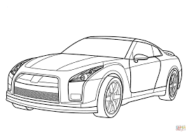 nissan skyline drawing 2 fast 2 furious nissan gt r coloring page free printable coloring pages