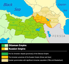 russia map after division russian armenia